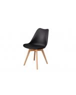 כסא TOPIC טבעי/שחור