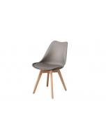 כסא TOPIC טבעי/אפור