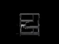 כוננית TRANO נמוכה שחור