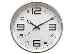 שעון קיר ELEGANTI מסגרת כסופה