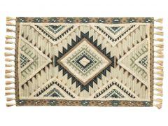 """שטיח ORGANIC  טורקיז במידה 100X150 ס""""מ"""